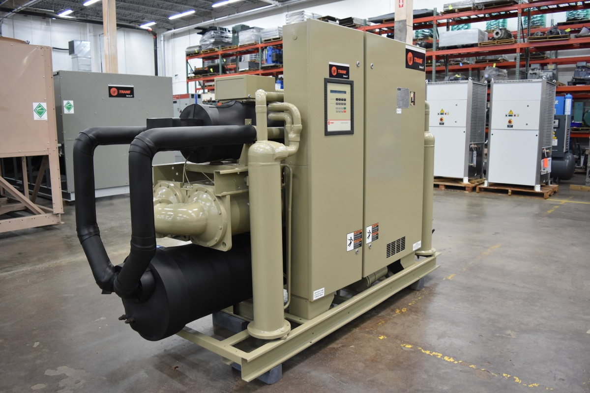 125 Ton Trane Water-Cooled Chiller Surplus Group