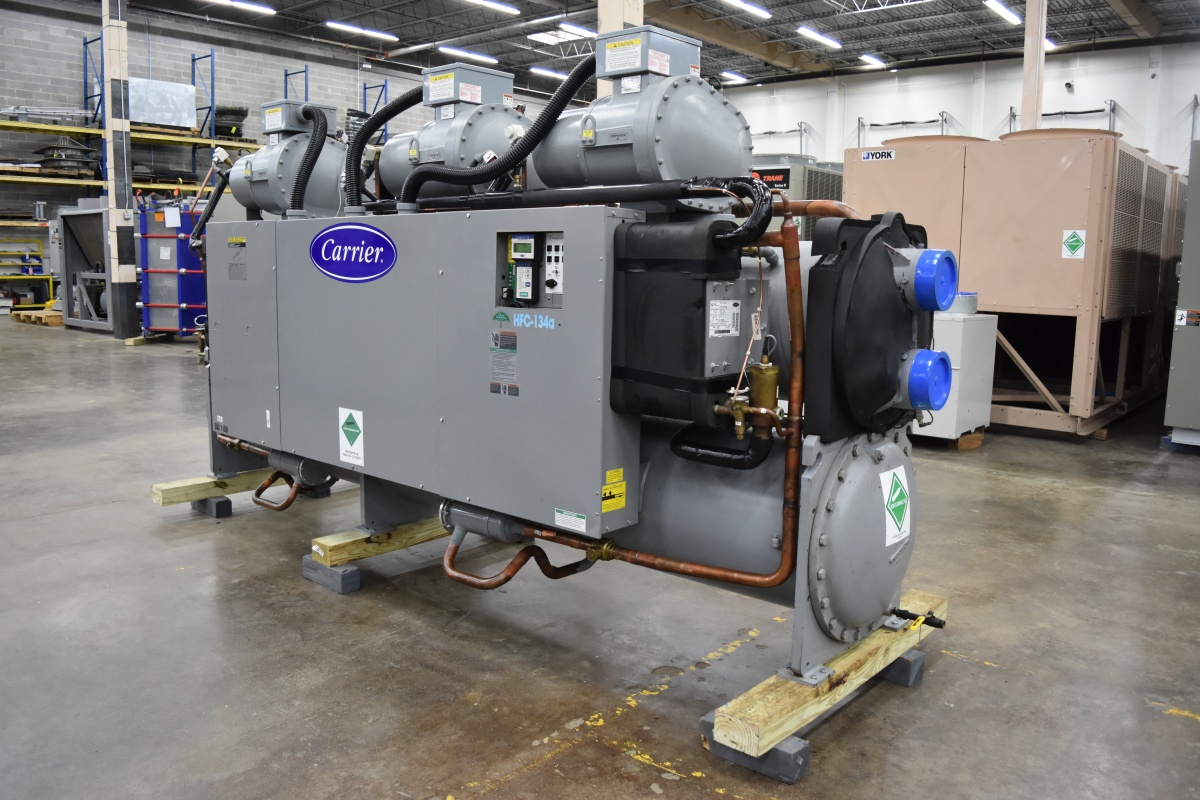 211 Ton Carrier Water-Cooled Chiller Surplus Group