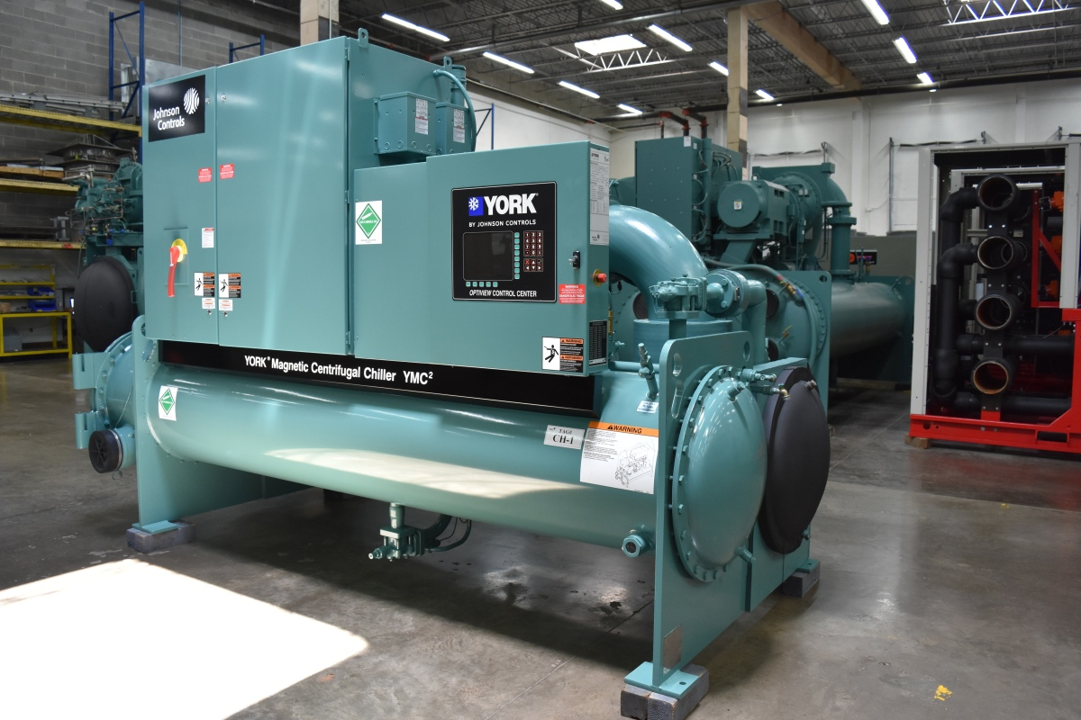 250 Ton York Water-Cooled Chiller Surplus Group