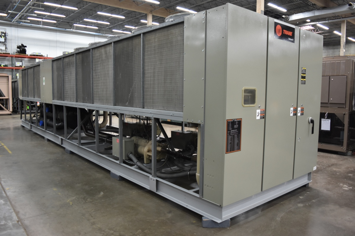 270 Ton Trane Air-Cooled Chiller Surplus Group