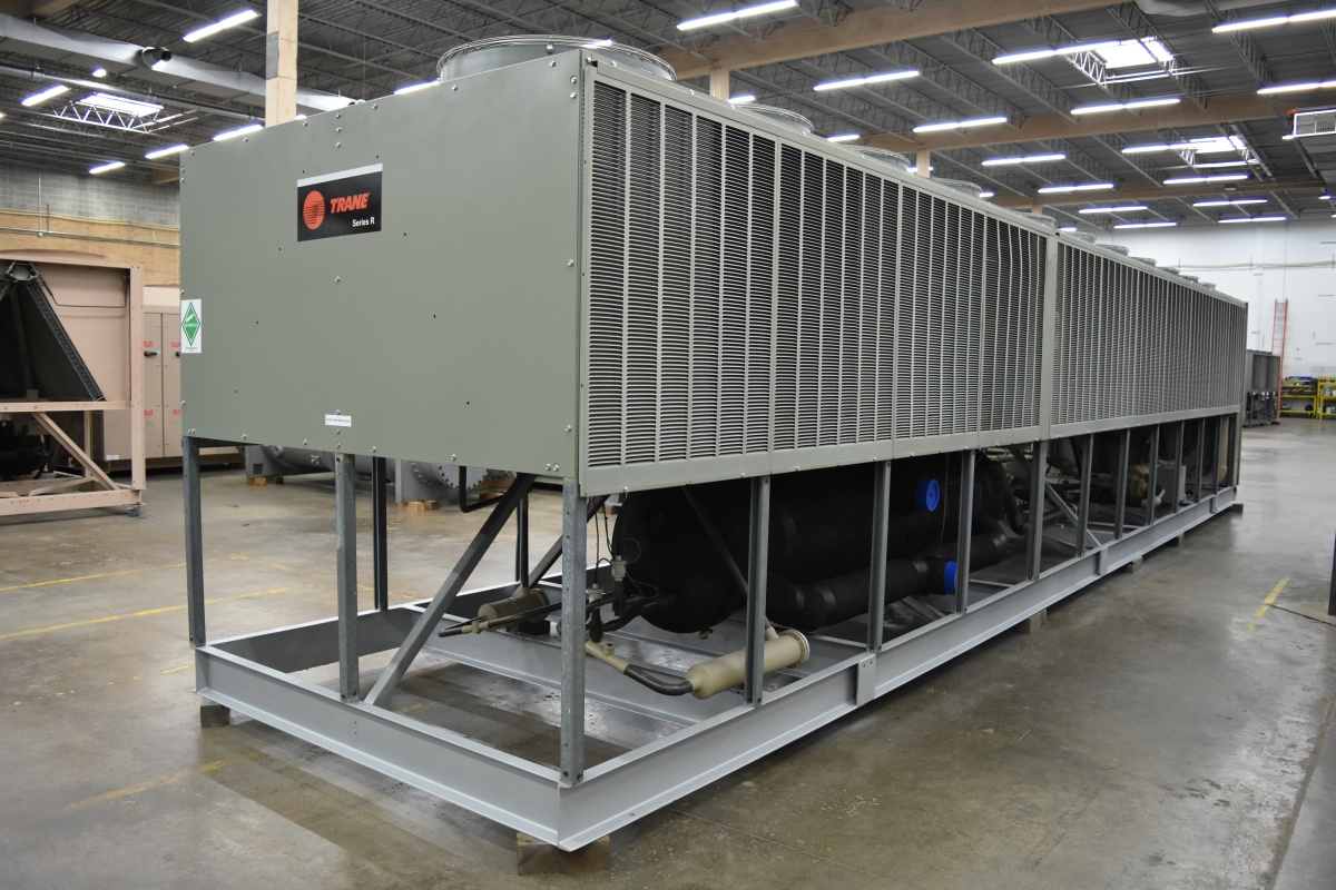 300 Ton Trane Air-Cooled Chiller Surplus Group