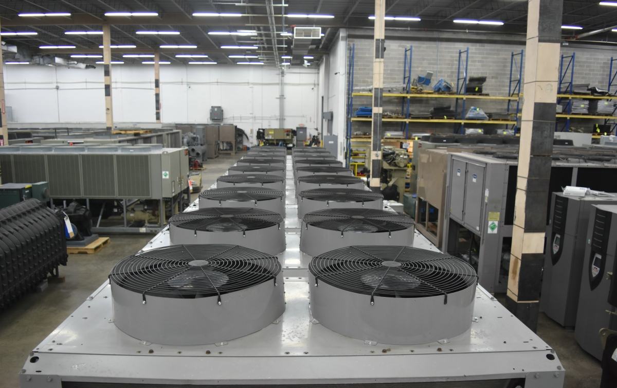 350 Ton Carrier Air-Cooled Chiller Surplus Group