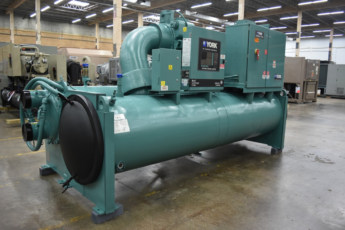 350 Ton York Water-Cooled Chiller Surplus Group