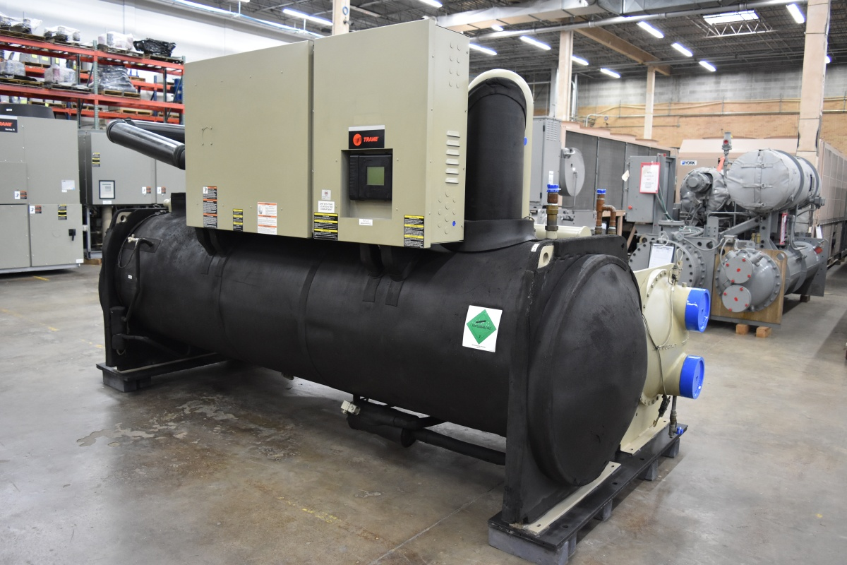 369 Ton Trane Water-Cooled Chiller Surplus Group