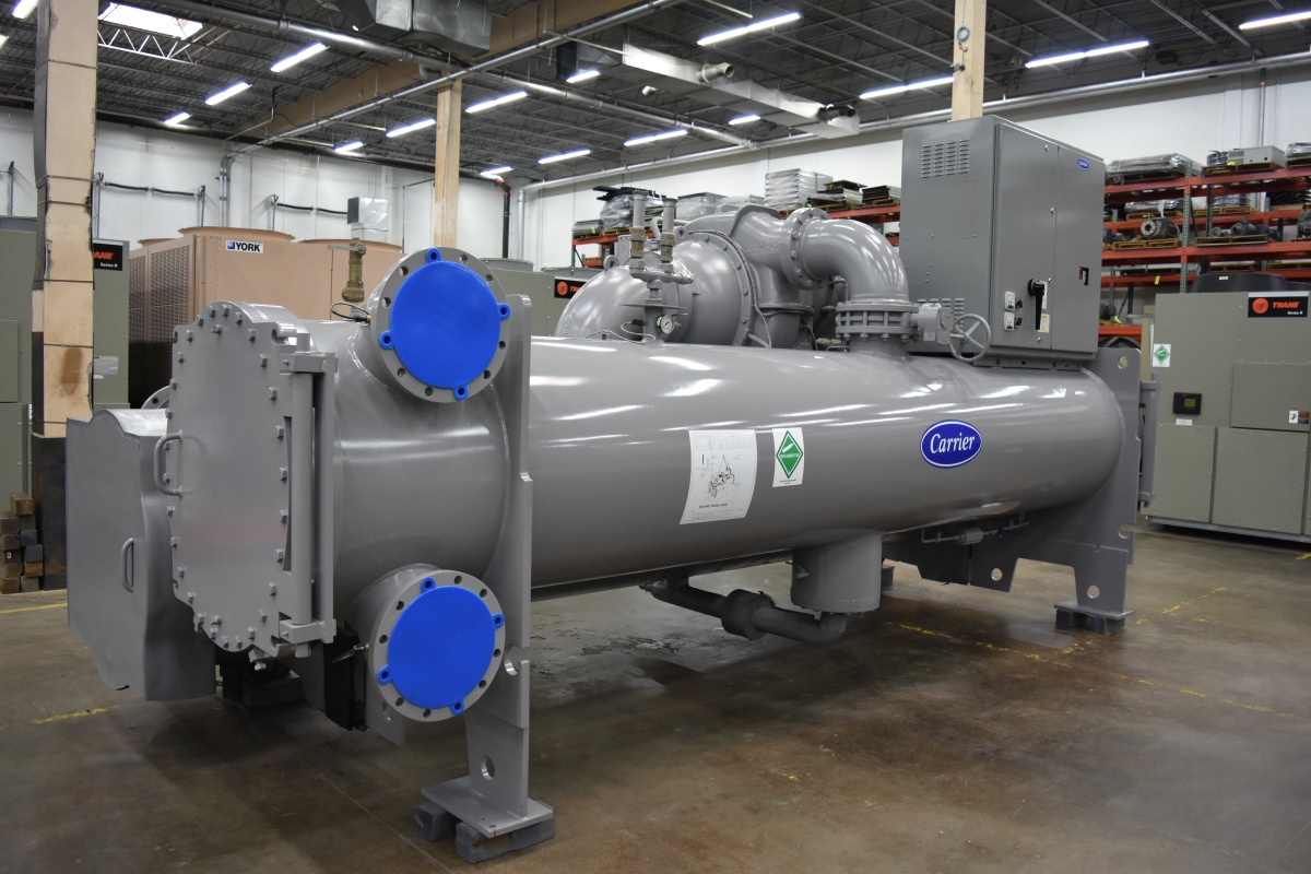 650 Ton Carrier Water-Cooled Chiller Surplus Group