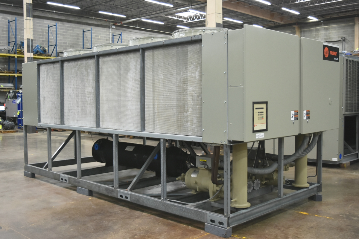 90 Ton Trane Air-Cooled Chiller Surplus Group